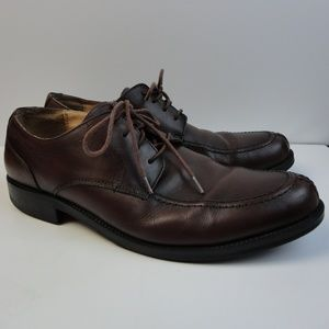 G. H. Bass & Co. Brown Leather Lace up Shoes Sz 12